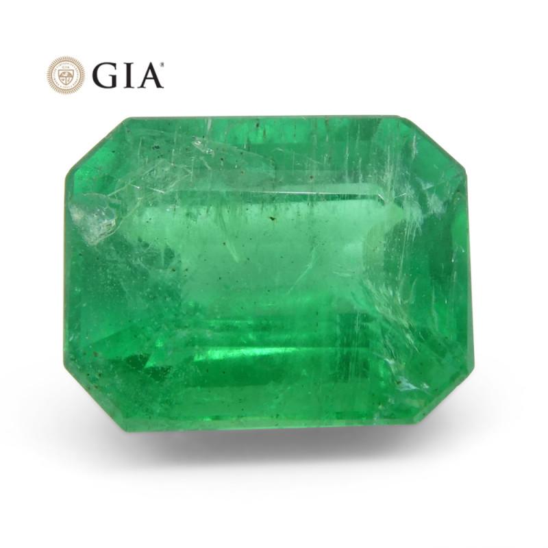 3.27 ct Octagonal/Emerald Cut Emerald GIA Certified