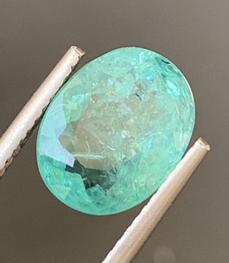 Paraiba 3.26 Carats Natural Color Tourmaline Gemstone
