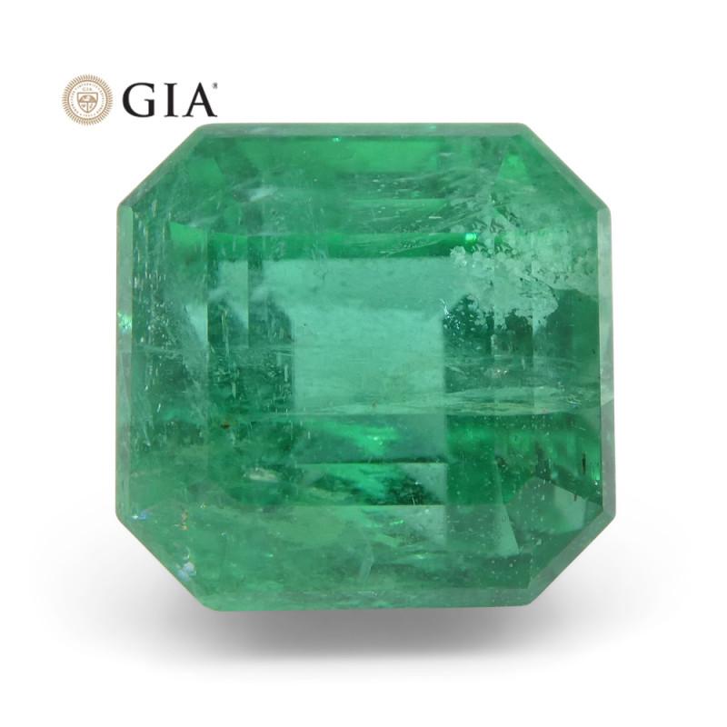 3.8 ct Octagonal/Emerald Cut Emerald GIA Certified