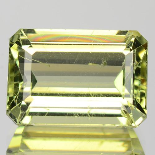 3.33 Cts Green Color  Natural  Apatite Loose Gemstone