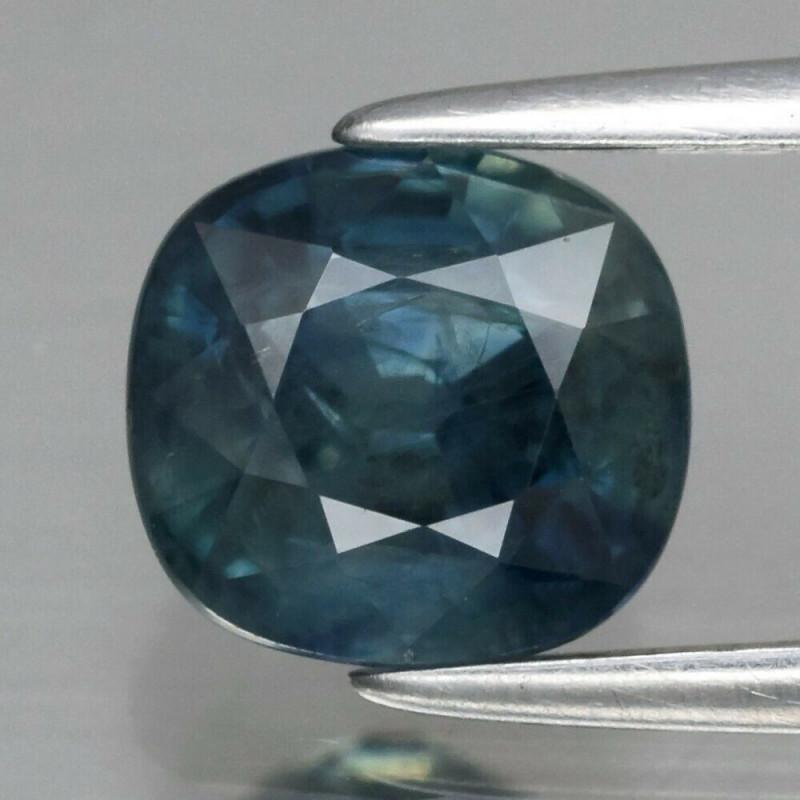 1.80 ct 6.8x6.3mm Cushion Natural Greenish Blue Sapphire Australia