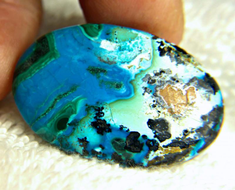 51.15 Ct. Chrysocola / Malachite Pendant Stone - Beautiful