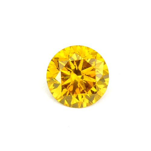 ~SPARKLING~ 0.07 Cts Natural Diamond Vivid Yellow 2.64mm Round Africa
