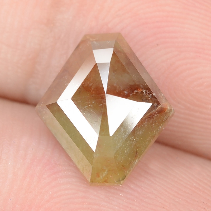 2.02 Cts Untreated Fancy  Brownish Yellow Color Natural Loose Diamond