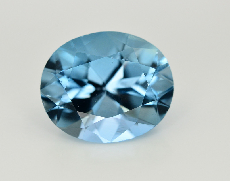 6.80 Ct Amazing Color Natural Blue Topaz ~ Swiss