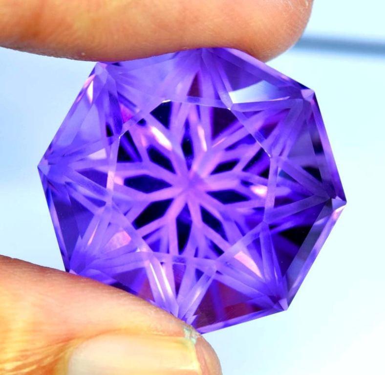 46 cta Natural Amethyst Fancy Cut Gemstone