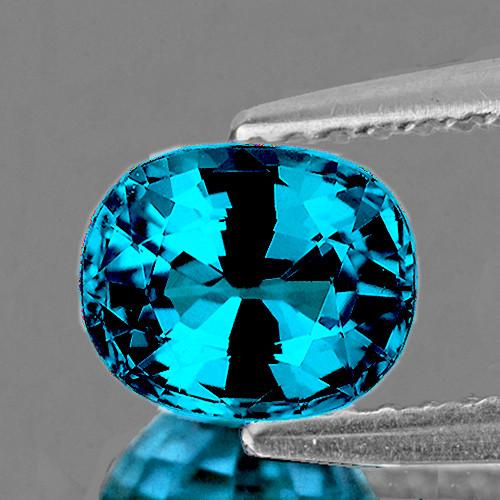 9.5x8 mm Oval 5.05cts Blue Zircon [VVS-VS]