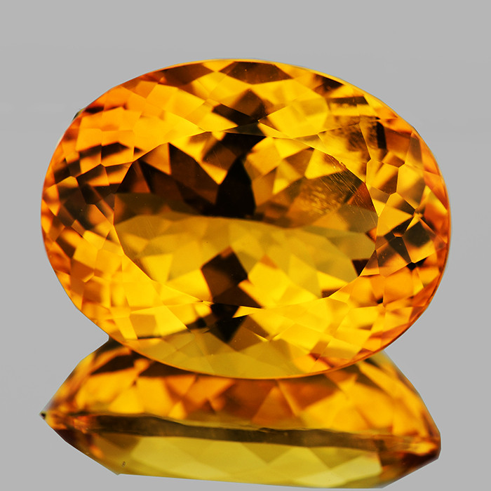 22x17mm Oval 26.42cts Golden Orange Citrine [VVS]