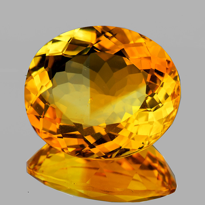 21.5x19mm Oval 25.45cts Golden Orange Citrine [VVS]