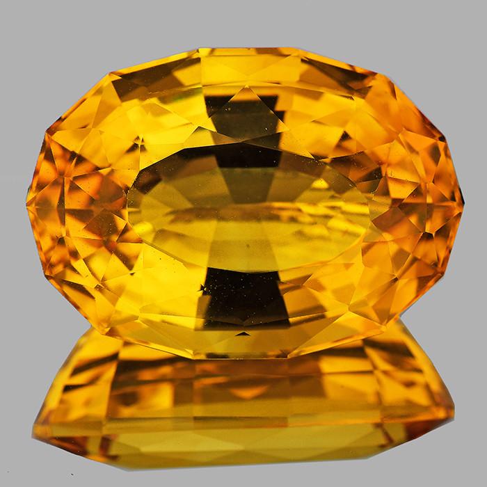25x17.5mm Oval 32.00cts Golden Orange Citrine [VVS]