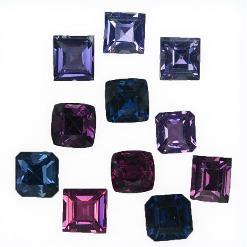 11.41 Cts Natural Fancy Spinel Octagon, Cushion & Square Cut 11Pcs Sri Lank