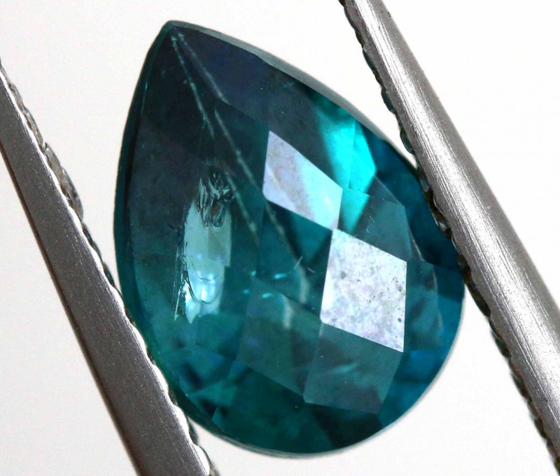 1.68 CTS  GREEN TOPAZ FACETED GEMSTONE  CG-2927