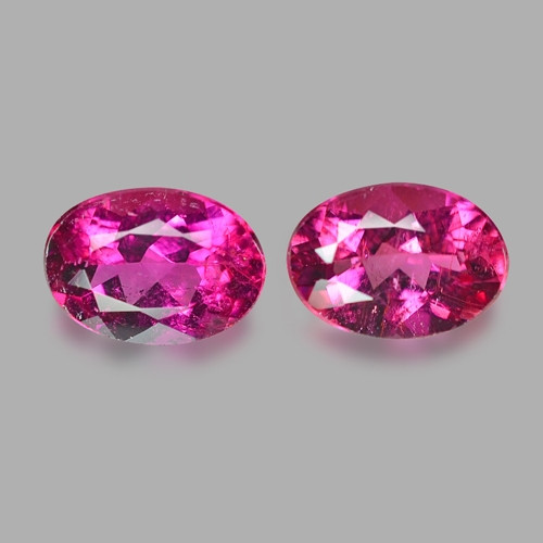 1.65 Cts 2pcs Matching Pair Un Heated Pink Natural Rubellite  Loose Gemston