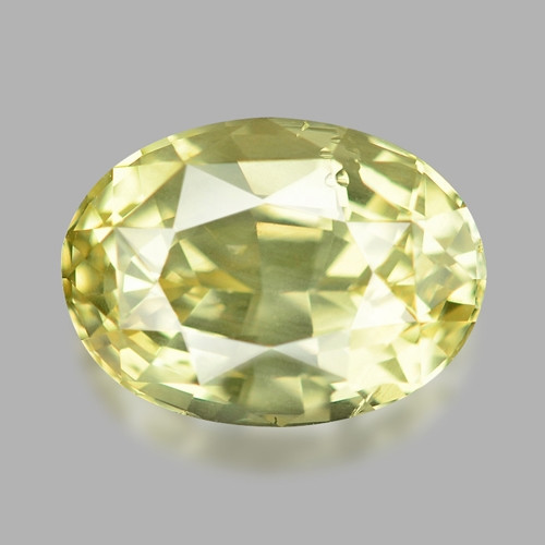 2.45 Cts Un Heated Fancy Yellow Natural Ceylon Sapphire Loose Gemstone