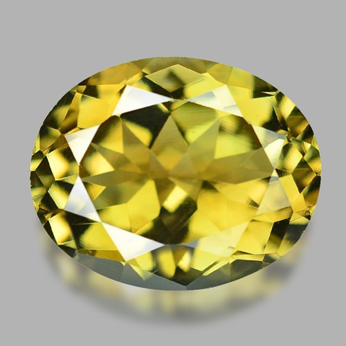 2.45 Cts Un Heated  Yellow Color Natural Tourmaline Loose Gemstone
