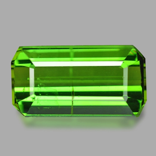 4.35 Cts Un Heated Green Color Natural Tourmaline Loose Gemstone