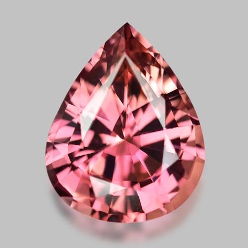 Exquisite natural pink rubellite tourmaline.