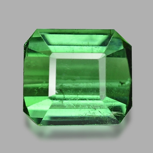 1.39 Cts Un Heated Green Color Natural Tourmaline Loose Gemstone