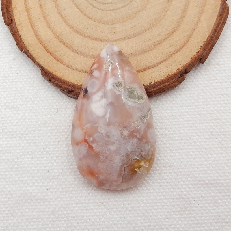 54.5cts gemstone cabochon,healing crystal, cherry blossom agate,january bir
