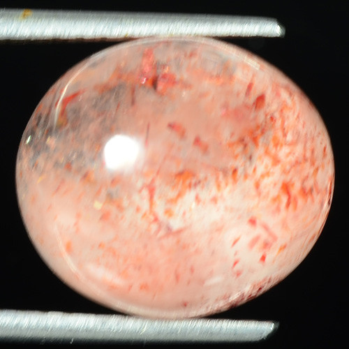 11.87 CTS Underwater Fish Scenario Strawberry Quartz Natural Gemstone