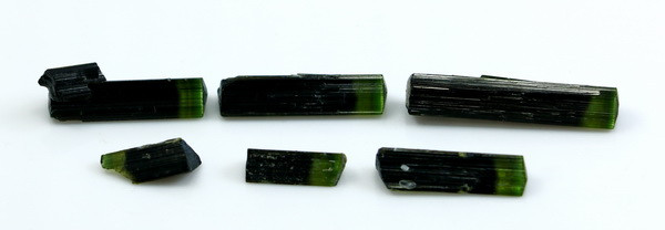 30.60 CT Natural - Unheated Green Cap Tourmaline Crystal lot