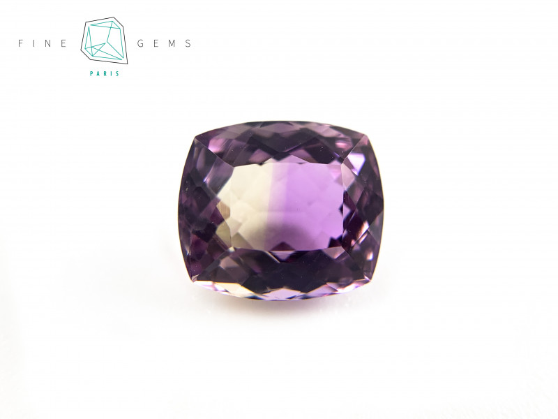 6.16 carats Natural Ametrine Gemstone Cushion cut