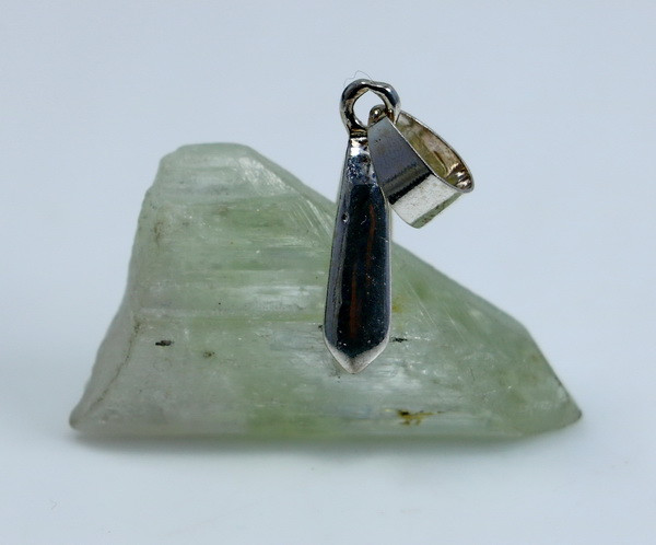 34.90 CT Natural & Unheated Green Hiddenite Pendant