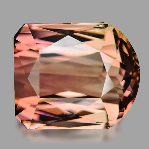 12.90 Cts Un Heated Bi Color Natural Tourmaline Loose Gemstone