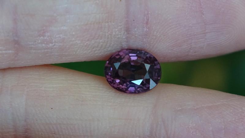 2.12ct VVS - Rich Purple - Spinel Cert.