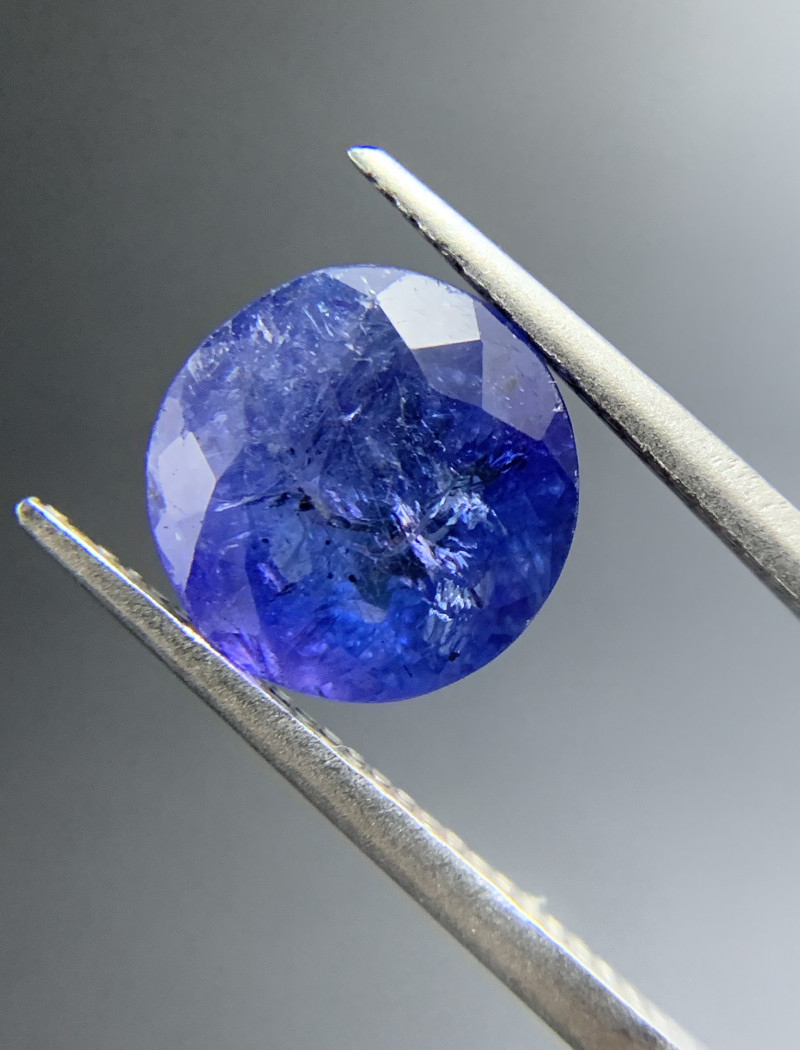 4.00 ct Natural Tanzanite Round Cut loose gemstone Ideal for mounting on je
