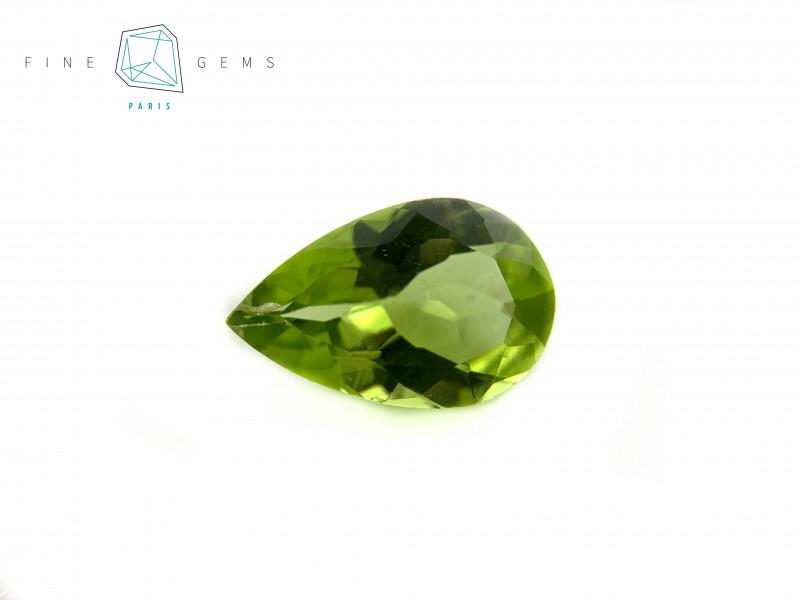1.91 carats Natural Peridot Gemstone Pear cut