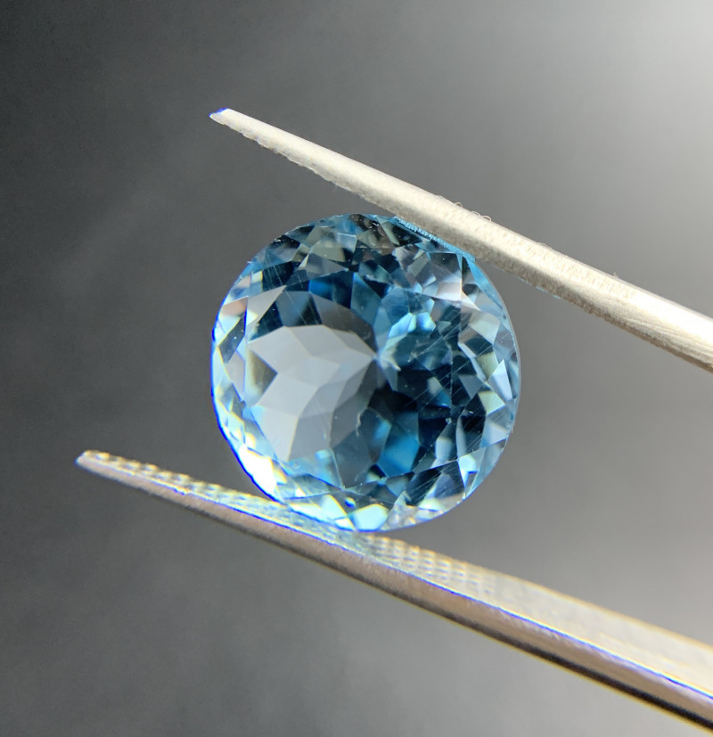 13.12 ct Natural Blue Topaz Round cut sky blue loose gemstone Ideal for mou