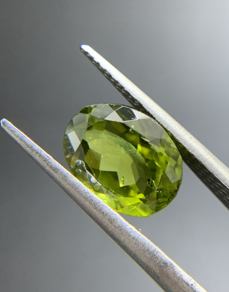 3.87 ct Natural Peridot Oval Cut Green Loose Gemstone Ideal for mounting on