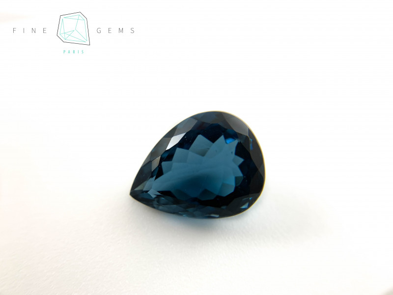 14.52 carats London Blue Topaz Pear cut