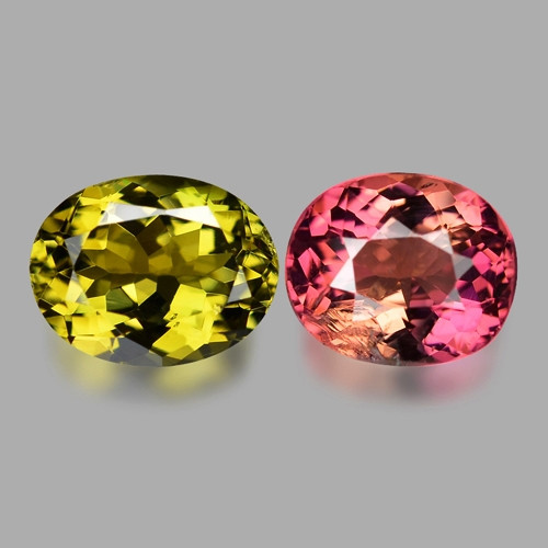 3.87 Cts Un Heated Fancy Yellow & Pink Color Natural Tourmaline Loose Gemst