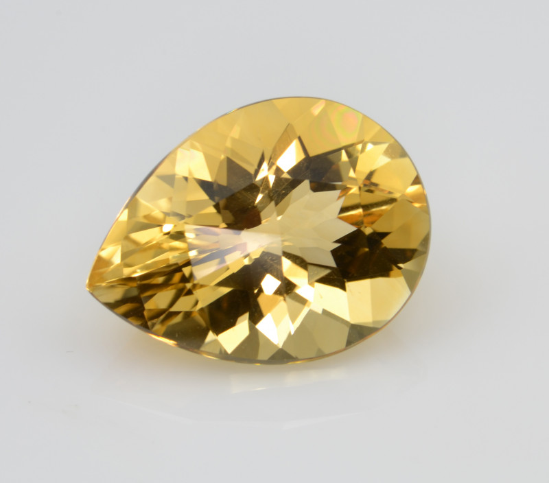 Natural Citrine 12.68 Cts Faceted Gemstone