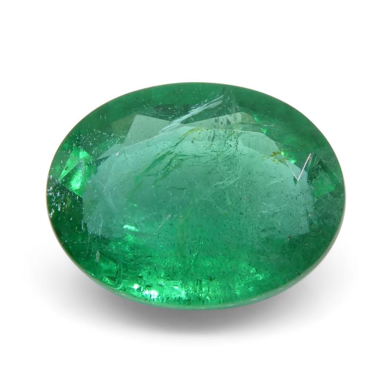 1.92 ct Oval Russian Emerald