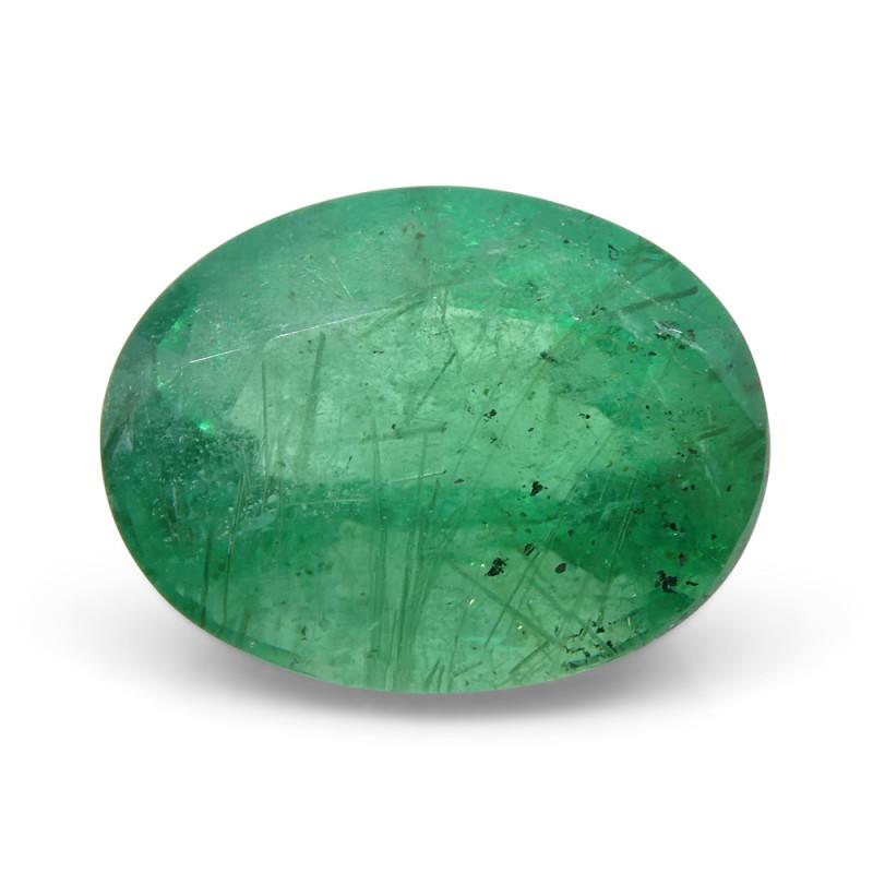 2.02 ct Oval Russian Emerald