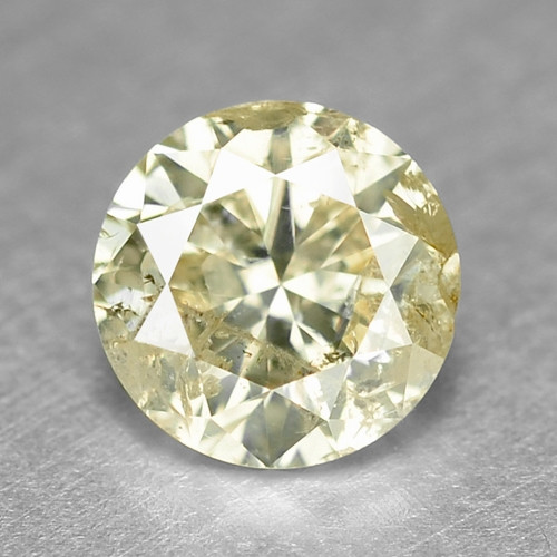 0.39 Cts Untreated Fancy Yellow Color Natural Loose Diamond