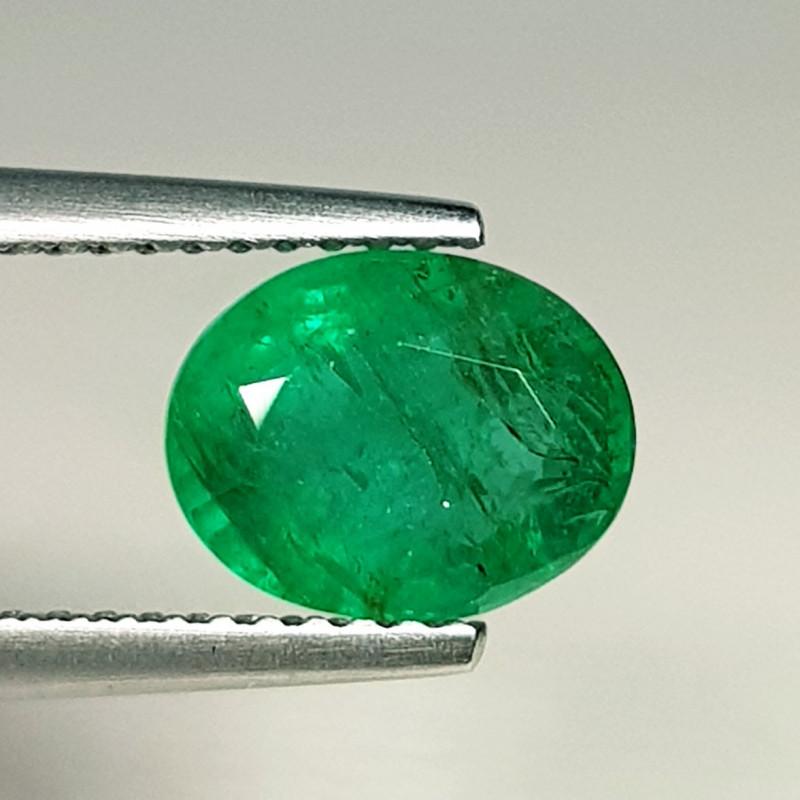 1.89 ct  Top Grade  Amazing Oval Cut Natural Emerald