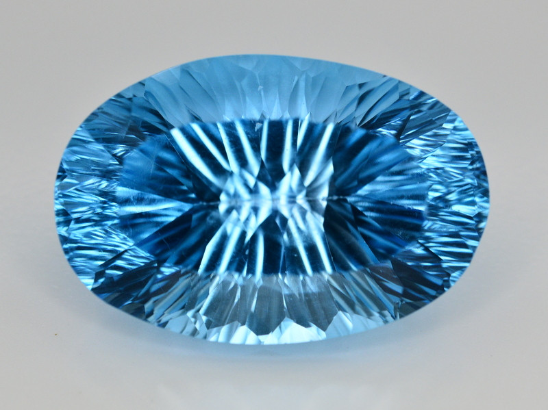 Amazing Laser Cut 57.55 Ct Natural Swiss Blue Color Topaz