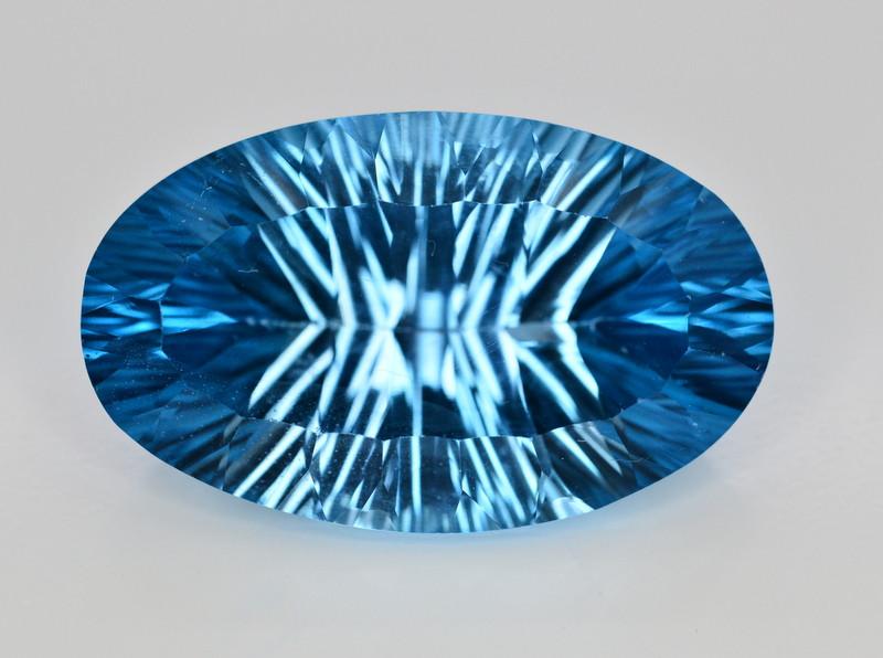 Amazing Laser Cut 56.70 Ct Natural Swiss Blue Color Topaz