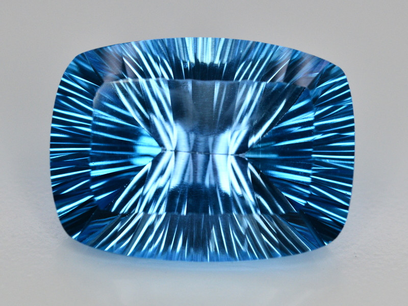 Amazing Laser Cut 56 Ct Natural Swiss Blue Color Topaz
