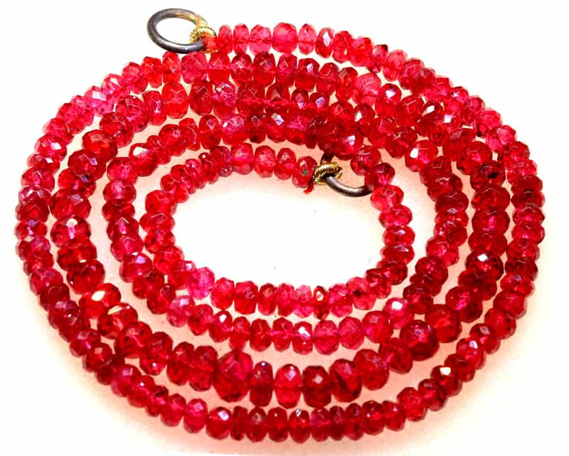 52 CTS  REDDISH PINK SPINEL FACETED  BEADS PG-66