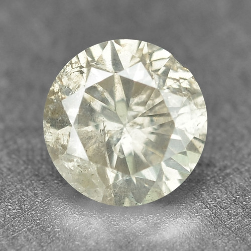 0.28 Cts Untreated Fancy Yellowish Grey Color Natural Loose Diamond