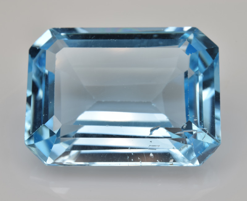 Natural Sky Blue Topaz 13.33  Cts Good Luster