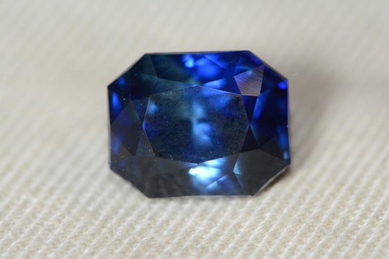 6.58 Carat Unheated Untreated Blue Sapphire With IGI Certificate