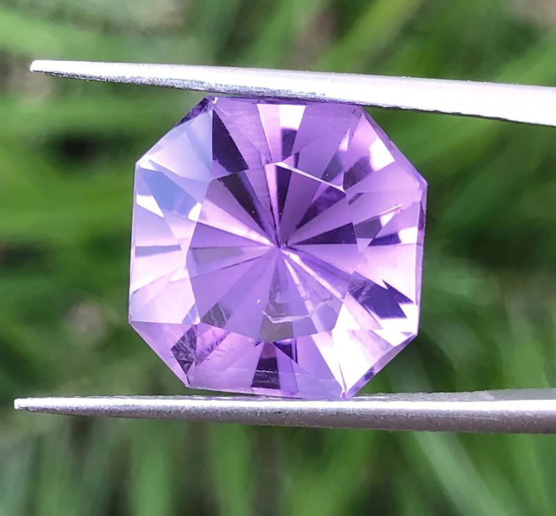 7.55 Ct Natural Purplish Transparent Amethyst Gemstone