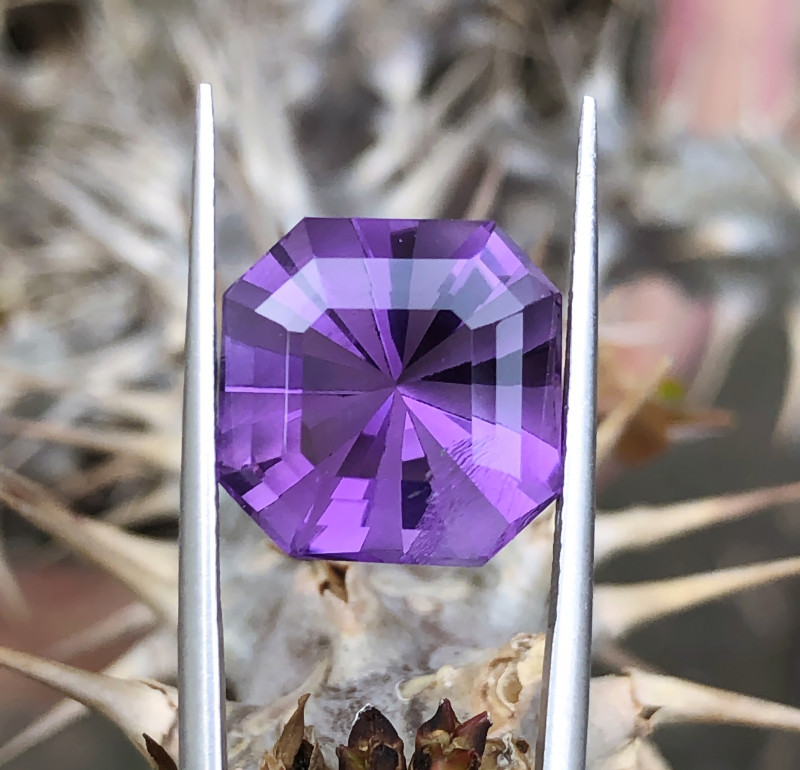 8.95 Ct Natural Purple Transparent Amethyst Good Quality Gemstone
