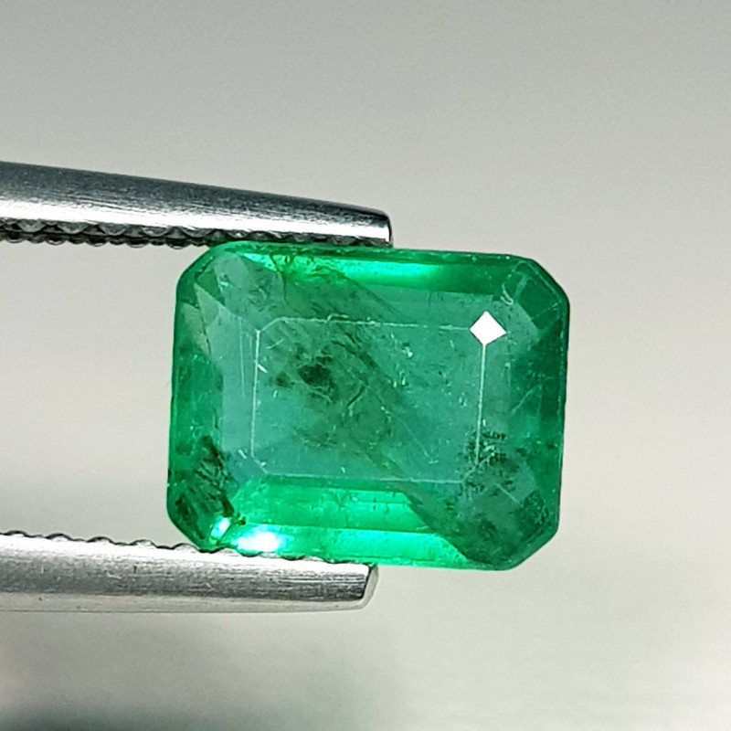 1.59 ct  AAA Grade Gem  Excellent Octagon Cut Natural Emerald